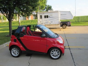 Red 2009 Smart ForTwo Cabriolet