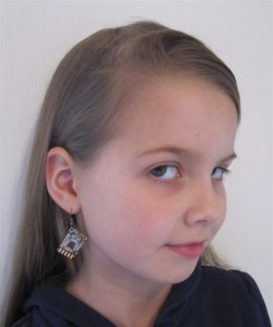 "PCB Earrings by ""The Belle Rings "", modeled by Belinda ""Belle"" Brain"